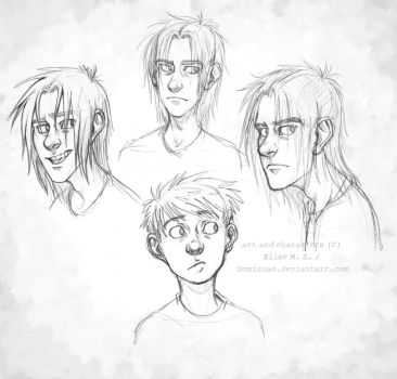 Sam and Spike - humans - new style sort of by oomizuao