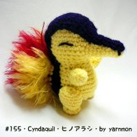 Cyndaquil Pokemon Amigurumi Plush by yarnmon