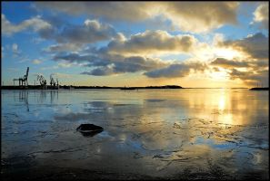Winter harbor by eswendel