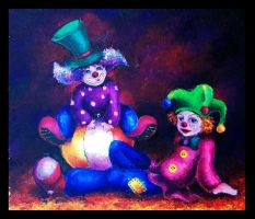 Clowns by mary-noire
