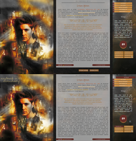Fall: Destiel layout by Kerubit