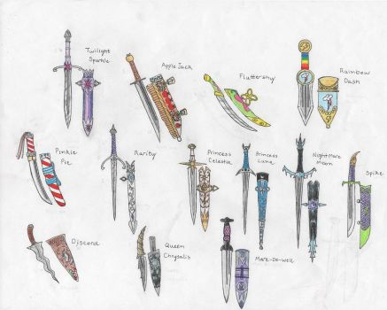 MLP:FIM themed Daggers by tod309