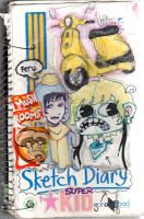Old Sketchbook Cover 1 by pinkfizzypops
