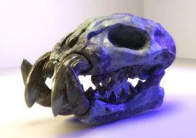 Skull material test by GordonTarpley