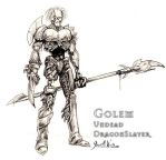 Golem - Dragon Slayer Character for Video Game by JWraith