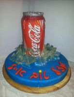 coca cola can cake by mysweetstop