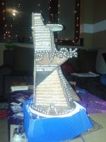 Gingerbread Stark Tower Daylight by Leviathan2010