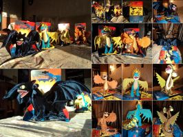 My small dragon plush army :3 by Rishkhaan