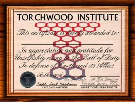 Torchwood Certificate by Carthoris