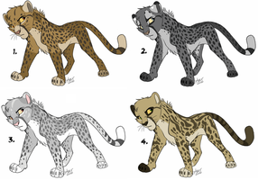 Adoptable cheetahs: All sold by KaiserTiger