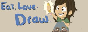 Eat love draw by millegas
