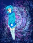 Blue Hair and Rose Colored Glasses by peace101zaira