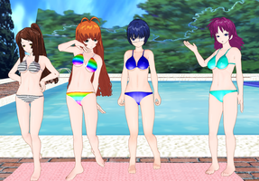 Nanyo Academy Girls Bikinis by quamp