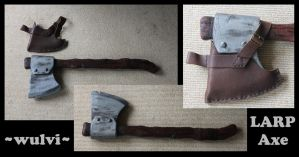 LARP Axe with sheath by wulvi