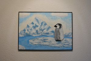 Fingerpainting - Penguin by miki-chaan