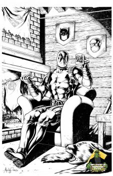 Deadpool chillin by knockmesilly