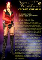 Character Bio - Capt Fairview by DrMcQuark