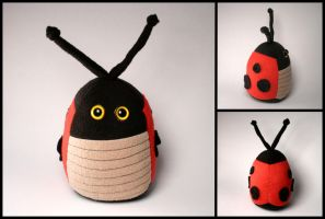 Ladybug Plushie Commission by Saint-Angel
