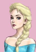 Elsa Sketch By Roggles by stratusxh