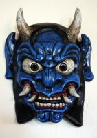 Oni Mask in Blue by Faust-and-Company
