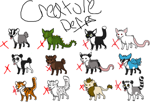 Creature Derp 1 - ALL SOLD by Vertok-Adopts