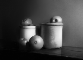 Fruits and pots still life by Haute-claire