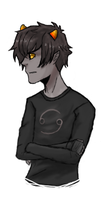 Karkat (first drawing in months) by TheAssholeProphet