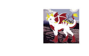White + Red Dragon by howlingathemoon
