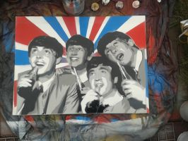 The Beatles by spraypaintscott