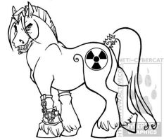 Radioactive Pony by lady-cybercat
