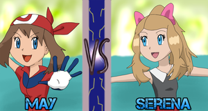 VS - May and Serena by SkulblakaShurtugal
