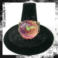 Copper, Purple and Green Ring by kelleejm1