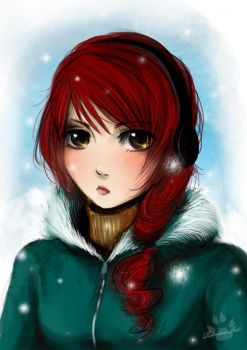Random red haired girl by Ritusss