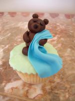 Teddy bear cupcake by see-through-silence