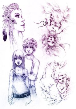 Sketches V by Charlie-Bowater