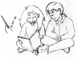 Reading Time, Ron. by isnani