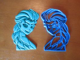 Princess Elsa Cookie Cutter 01 by B2Squared