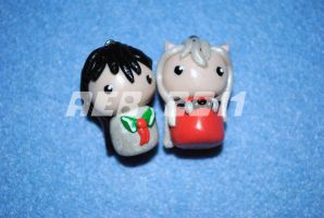 Kagome & Inuyasha Charms by QueenNekoyasha