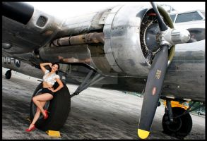 Pin Up - B17 Bomber by VivianIreenePierce