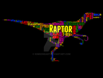 Raptor 2 typography by somsongart