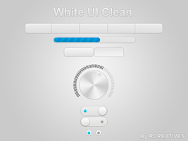 White UI Clean [FREE PSD] by rcreatives