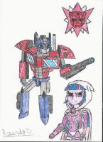 Optimus prime and twilight sparkle colored by redfire11 optimus prime