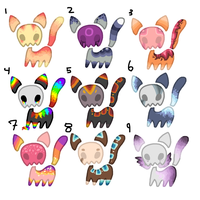 Skull cat auction :CLOSED: by Swift-The-KittyAdopt