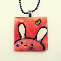 Bunny Polymer Clay and Resin by cellsdividing