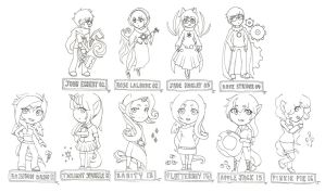 Homestuck and My Little Pony Cartoon Cards by GreenMangos
