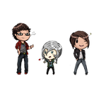 Chibis by onebecamenone