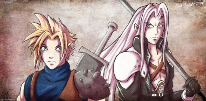 Cloud and Sephiroth by Neyus
