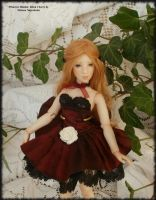6.9 in Polymer BJD, Primrose Maiden: Black Cherry by Rosen-Garden