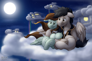 -Commission- Under the Moonlight by BuizelCream