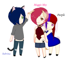 Purple Maggie and Sabrina :closed collab: by BlackRoseSyn